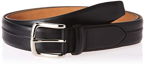 Cole Haan Men's 35mm Burnished Leather Belt with Pinched Seam Detail, black, 38 (Cole Haan Belts Men For)