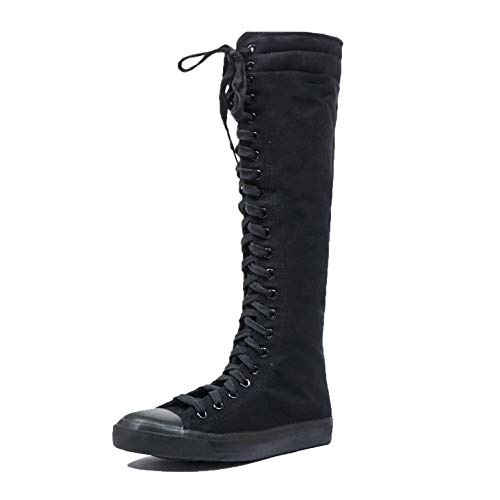 3af7c1bf4a131 DW Women's Tall Canvas Lace up Knee High Sneakers   Weshop Vietnam