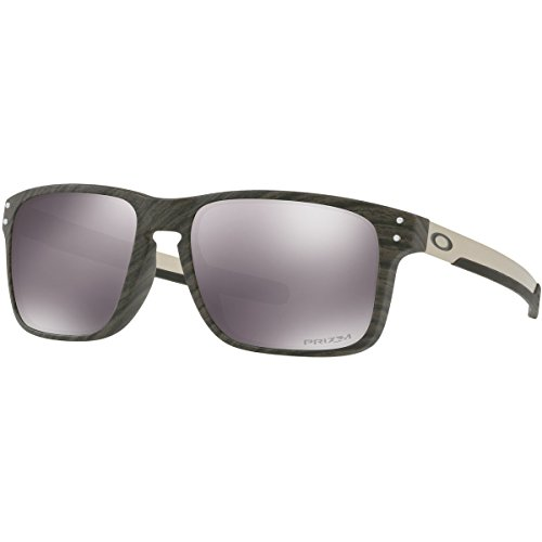 Oakley Men's Holbrook Mix Non-Polarized Iridium Rectangular Sunglasses, Woodgrain, 57.0 - Sunglasses Holbrook Oakleys