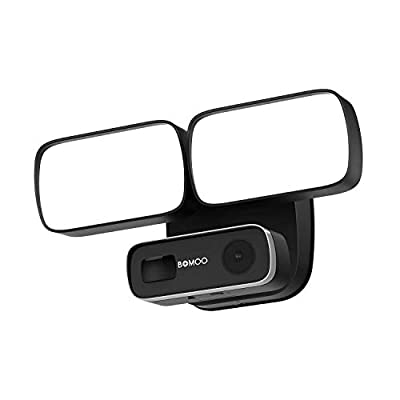 Floodlight Outdoor Camera, 1080P Wireless Security Home Camera, PIR Motion Detection Siren Alarm, IP65 Waterproof 2MP WiFi Spotlight Camara Two-Way Audio Night Vision, Remotly Contral Flood Light