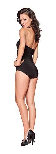 Esther Williams Classic Sheath Solid Color Swim Suit, Black, 6