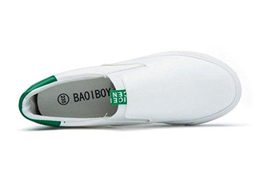 Cuatro Inferior White Zapatos Negro Zapatos 35 Movimiento de Lona Perezoso XIE Estudiantes Gruesa Blanco Señora GREEN Estaciones Cómodo 37 Ocio Zapatos Parte IxU6q