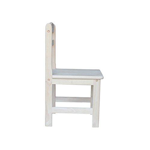 International Concepts Unfinished Juvenile Chair, Set of 2 by International Concepts (Image #4)