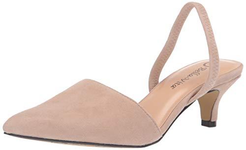 Bella Vita Women's Sarah Slingback Dress Shoe Pump, Almond Kidsuede Leather, 6.5 M US