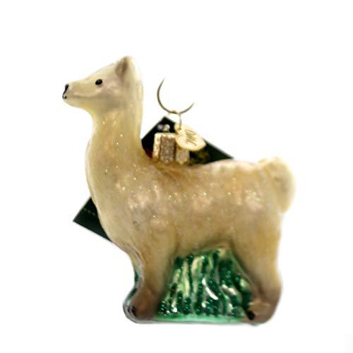 Old World Christmas Blown Glass Hanging Ornament - Llama