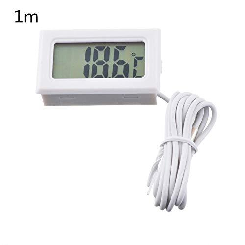 Lorsoul Digital LCD del term/ómetro del Acuario con la Sonda de Agua del refrigerador Term/ómetro