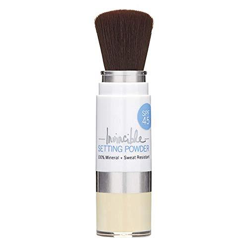 Supergoop! Invincible Setting Powder , Translucent – 0 . 15 oz – 100% Mineral Makeup Setting Powder & Broad Spectrum SPF…