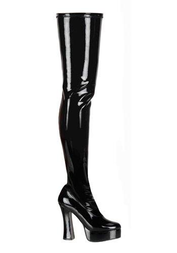 Pleaser Women's Electra-3000Z/B Boot,Black Patent,10 M US