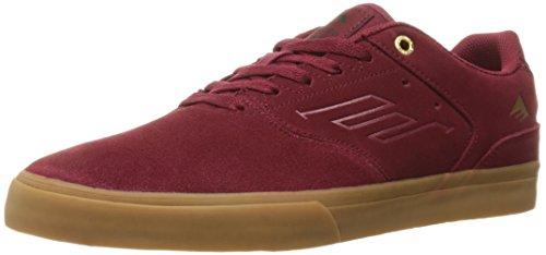 Emerica THE REYNOLDS LOW VULC,Men's Skateboard Shoes Burgundy/Gum