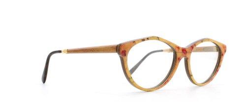 GOLD & WOOD - Monture de lunettes - Femme Jaune Yellow Orange Pink