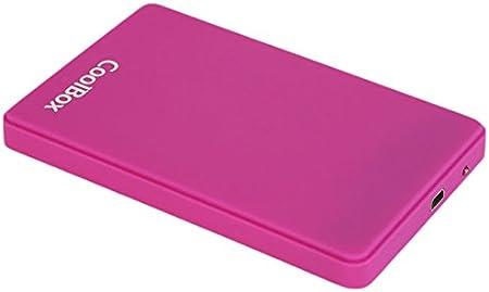 CoolBox SlimColor - Carcasa Externa para HDD y SSD - Color Morado: Amazon.es: Informática