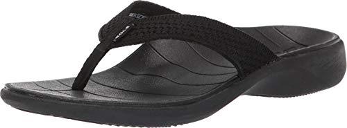 (SOLE Women's Del Mar Sport Flip, Black, W)