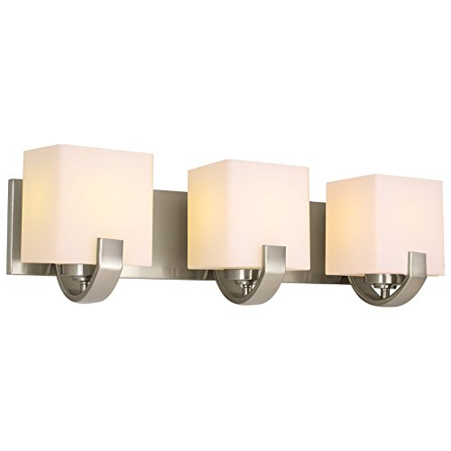 -Light Contemporary Vanity/Bathroom Light, Brushed Nickel Finish ()