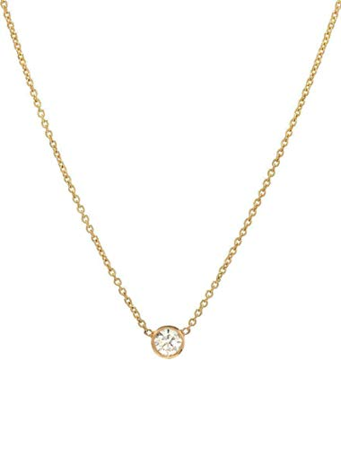 Bezel diamond necklace, 0.10ct solitaire diamond