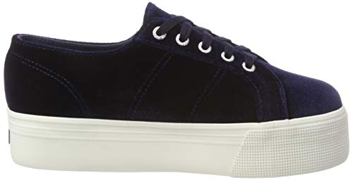381 2790 Blue Femme velvetchenillew Baskets Bleu Superga na7wZYqz