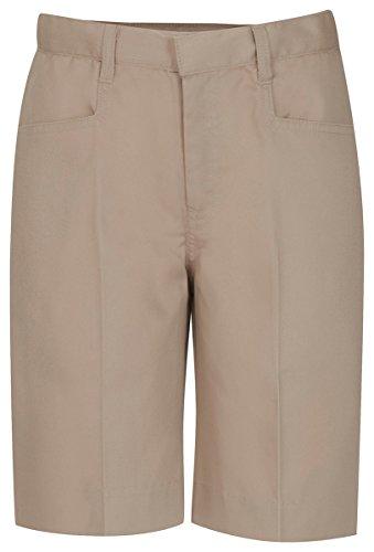 CLASSROOM Big Girls' Adjustable Waist Low Rise Bermuda Short, Khaki, ()