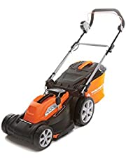 Yard Force 34cm Cordless Rotary Lawnmower with 40V Lithium-Ion Battery and Quick Charger