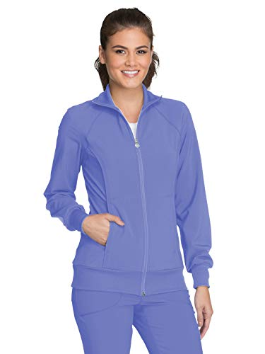 Cherokee Women's Infinity Zip Front Warm-Up Jacket, Ciel, X-Small -