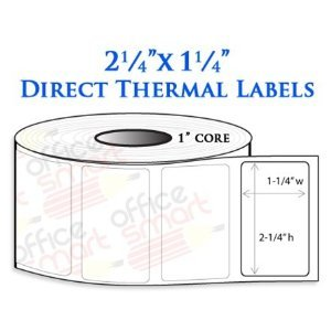 2.25x1.25 Direct Thermal Barcode Labels for Zebra GC420d GC420t GK420d GK420t GX420d GX420t LP2824 LP2422 TLP2824 LP2844 LP2442 TLP2844 ZP450 Barcode Printer - 2 Rolls