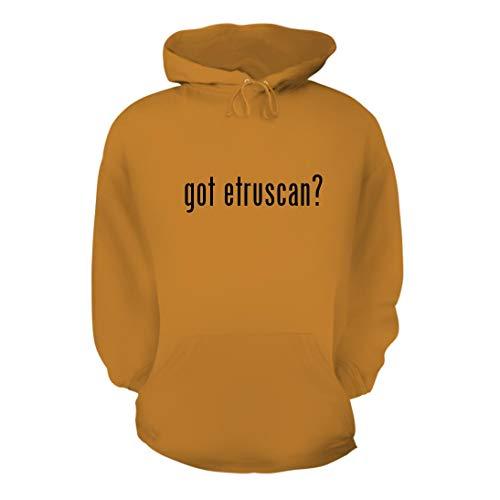got Etruscan? - A Nice Men's Hoodie Hooded Sweatshirt, Gold, Large