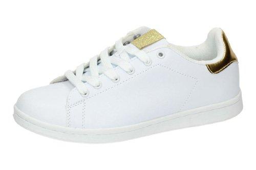 Zapatillas-blancas-DEMAX-DEPORTIVOS-talla-40-BLANCO-POLIPIEL