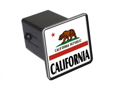 California State Flag Tow Trailer Hitch Cover Plug Insert 2