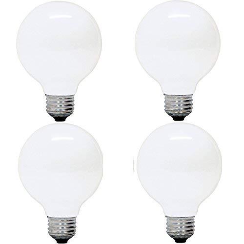 GE Lighting 14848 Soft White 60 Watt Frosted G25 Light Bulb- Edison Base A19, 4 Pack
