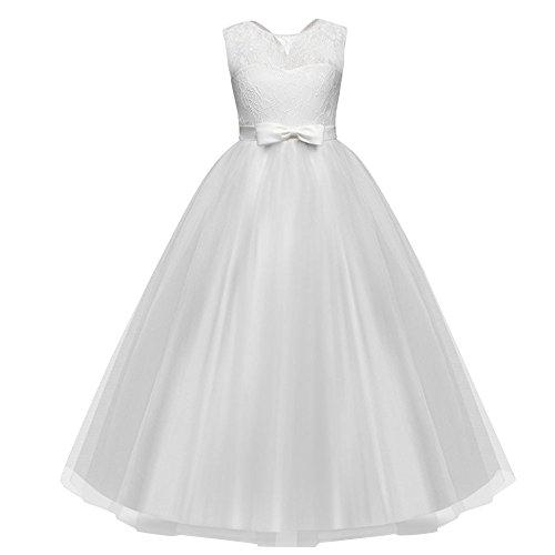 Cinque Punti Gonna Ragazza Bambini Prestazioni 9 Spettacolo Per Ballo bianca Sposa Vestito In Principessa Ricamato Tutu A Pizzo Abito Manica Arco Vovotrade Y Da Anni EHUqxEwI