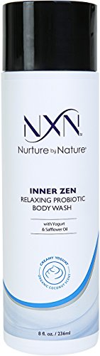 Nature Scented Shower Gel (NxN Inner Zen Relaxing Body Wash, Coconut Scented Creamy Yogurt Probiotic Natural & Organic Formula, 8 Fl Oz)