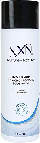 NxN Inner Zen Relaxing Body Wash, Coconut Scented Creamy Yogurt Probiotic Natural & Organic Formula, 8 Fl Oz