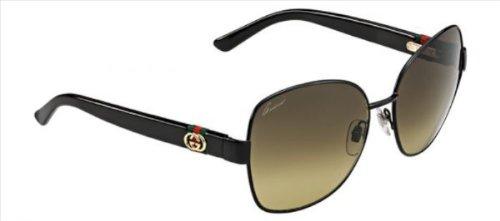 Gucci Sunglasses - 4242 / Frame: Shiny Black Lens: Brown Gradient