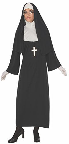 Rubie's Costume Co Women's Nun, Black/White, Large -