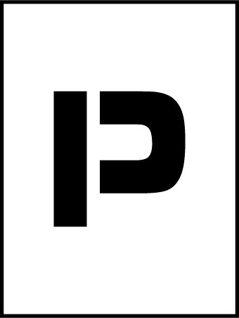 NMC PMC36-P 36''Stencil Letter ''P'', Pack of 5 pcs by National Marker
