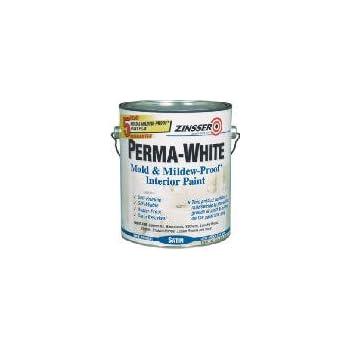 Zinsser 02704 Quart Satin Gloss Perma White Mildew Proof