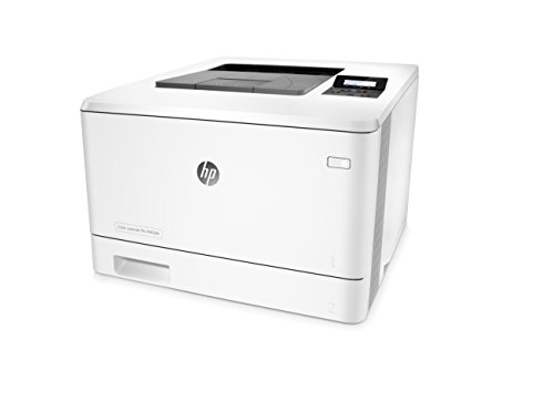 HP LaserJet Pro M452dn Color Laser Printer with Built-in Ethernet & Double-Sided Printing, Amazon Dash Replenishment ready (CF389A) 3 FEATURES DESIGNED FOR YOUR BUSINESS: color laser printer, 2-line display with keypad, duplex printing, built-in Ethernet (no wireless) PRINT AT BUSINESS SPEED: Print up to 28 pages per minute with this wireless laser printer. First page out in as fast as 8.9 seconds for black, and 9.5 seconds for color. SOLID SECURITY: Keep printing safe from boot up to shutdown with security features that guard against complex threats.