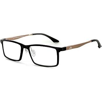 80b4c372ec Alumni RX04 Optical-Quality Reading Glasses with RX-Able Aluminum Titanium  Alloy Frames for Men (Black Gold +1.50)