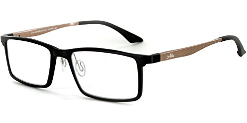 - Alumni RX04 Optical-Quality Reading Glasses with RX-Able Aluminum Titanium Alloy Frames for Men (Black/Gold +1.50)