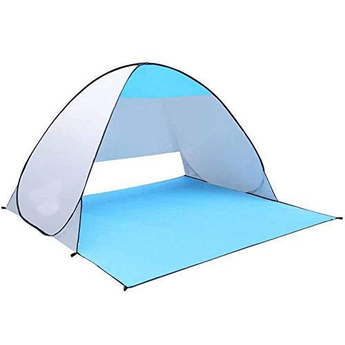 ezyoutdoor 71x59x40'' Instant Pop Up Automatic Instant Portable Outdoors Cabana Beach Tent Shelter, Sun Shade Sport Shelter, Beach Umbrella, Random Color