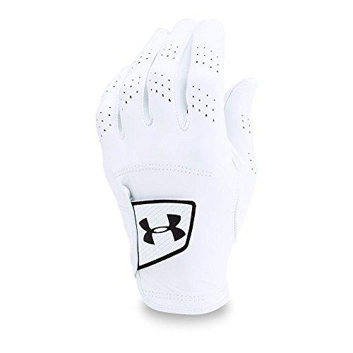 (Under Armour Men's Spieth Tour Glove,White (100)/Black, Left Hand)