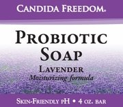 Three (3) Bars of Candida Freedom Probiotic Lavender Soap 4 oz - 3 bars