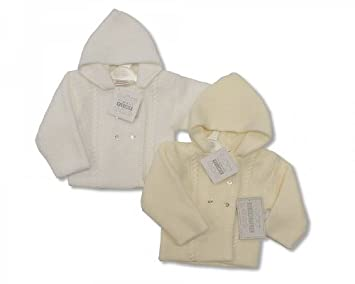 c966c9ed8 Baby Knitted Pram Coat Newborn White  Amazon.co.uk  Baby