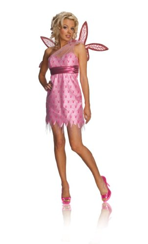 [Rubies Sexy Playboy Bunny Pink Pixie Fairy Halloween Costume M] (Playboy Bunny Costume Red)