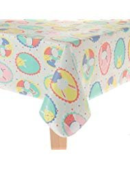 Blossoms & Blooms Vinyl Tablecloth 52 X 70 Oblong-Bunnies in the Window