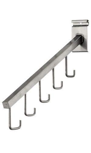 5 Steel J-Hooks Waterfall Faceout Arms Grid Wire Slat Gridwall Purses Handbags by AchmadAnam ()