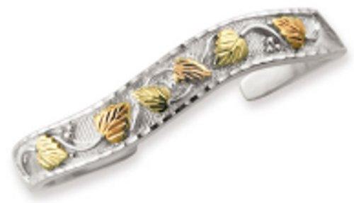 Black Hills Gold Silver Bangle Bracelet