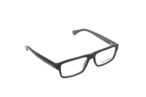 Armani EA3013 Eyeglass Frames 5102-54 - Top Black On Gray EA3013-5102-54 (Giorgio Black Eyeglasses Armani)