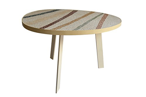 Coffee Table With Mosaic Colored Stripes