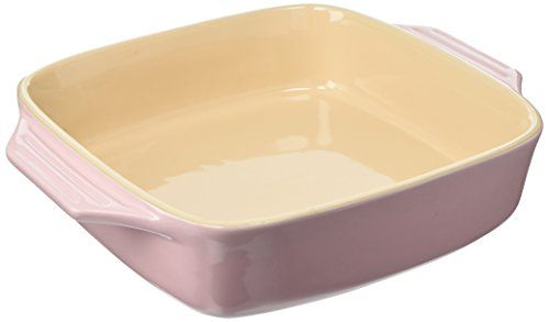 Le Creuset Stoneware Covered Square Casserole, 2 3/4 Quart, Hibiscus