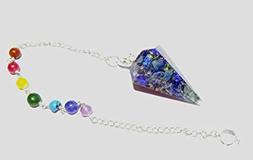 WholesaleGemShop Orgone Lapis Lazuli Facet Pendulum Crystal Dowsing & Reiki Healing Energy