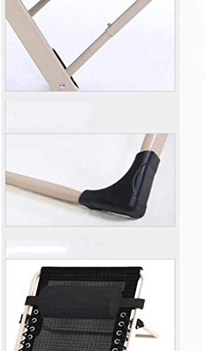 RECLINING SUN LOUNGER Däck stol Lounge stol, fällbar lunchpausstol hopfällbar stol sommar tupplur stol kontor lunchpaus stol 185 x 67 x 25 cm xiuyun (färg: svart)